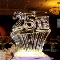 25th Celebrations Ice Sculpture
