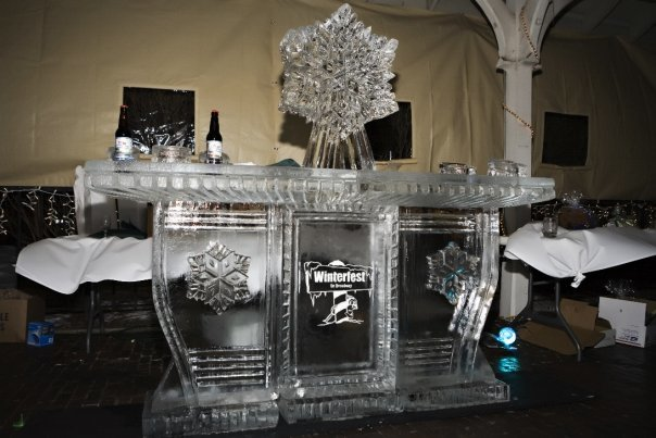 [Image: Winterfest would not be complete without a custom ice bar from Krystal Kleer Ice Sculptures, LLC. ]