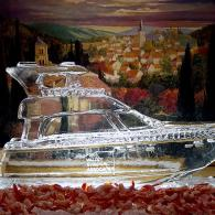 Custom Yacht Ice Sculpture for a retirement party.