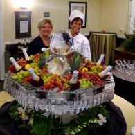 Here is an example of my favorite custom ice sculptures from the past. The Grande Champagne Fountain makes a stunning statement for a champagne station!