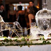 Cinderella Themed Horse & Carriage Ice Sculpture