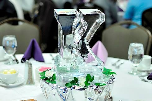 K Mini Table Centerpiece Ice Sculptures