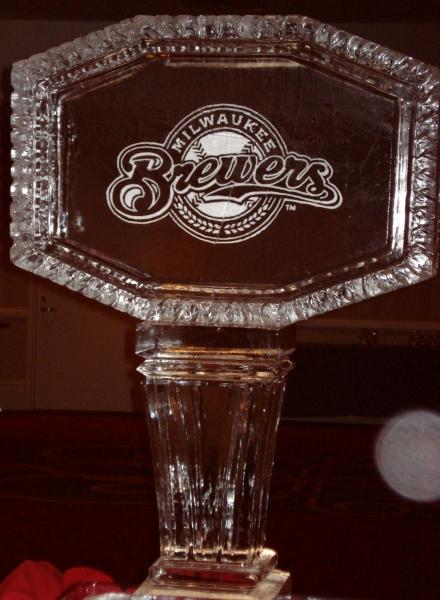 [Image: Incorporate your logo in a custom ice sculpture from Krystal Kleer Ice Sculptures, LLC.]