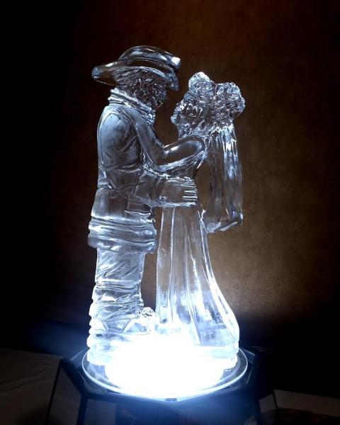 Fireman and his Bride Ice Sculpture